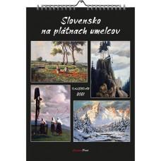 Slovensko na plátnach umelcov - nástenný kalendár